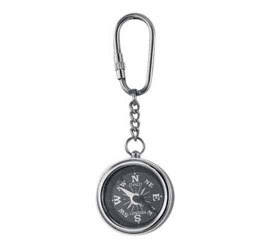 Kompass Schlüsselanhänger vernickelt