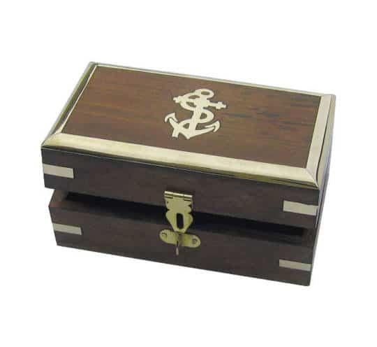 größere verschließbare Holzbox von Sea Club aus Holz