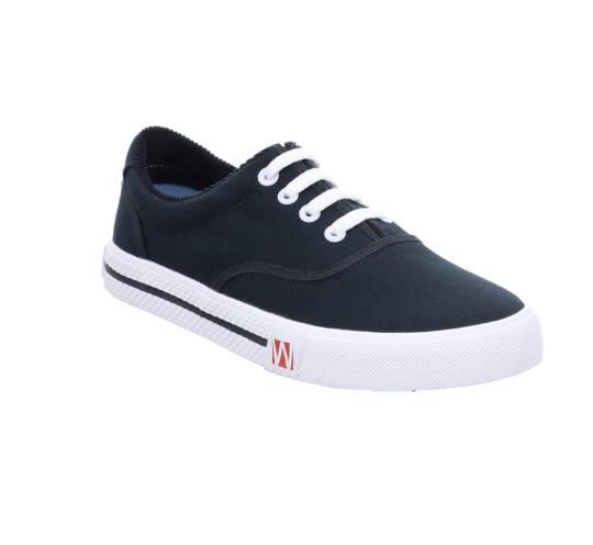 Sneaker Soling - Schnürschuhe von Westland blau mit weißer Sohle