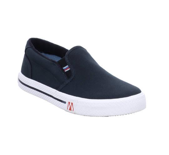Sneaker Laser - Slipper von Westland blau mit weißer Sohle