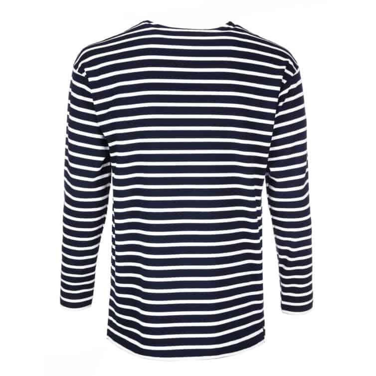 Modes Herrenshirt Ringelshirt blau weiß