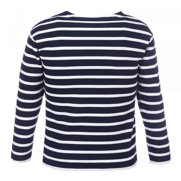 bretonisches Kindershirt Ringelshirt blau weiß