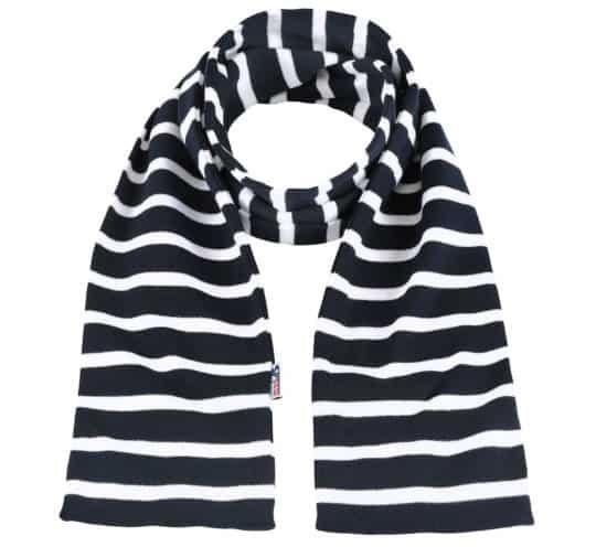 bretonischer Schal von Modas blau weiß