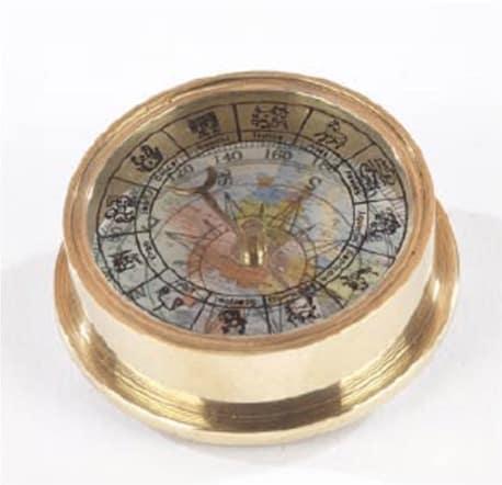 Kompass in gold von Artesania