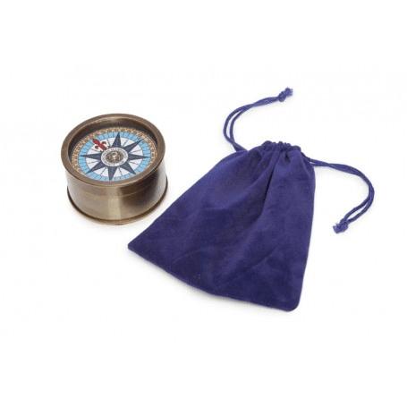 Kompass im Samtsäckchen von Artesania