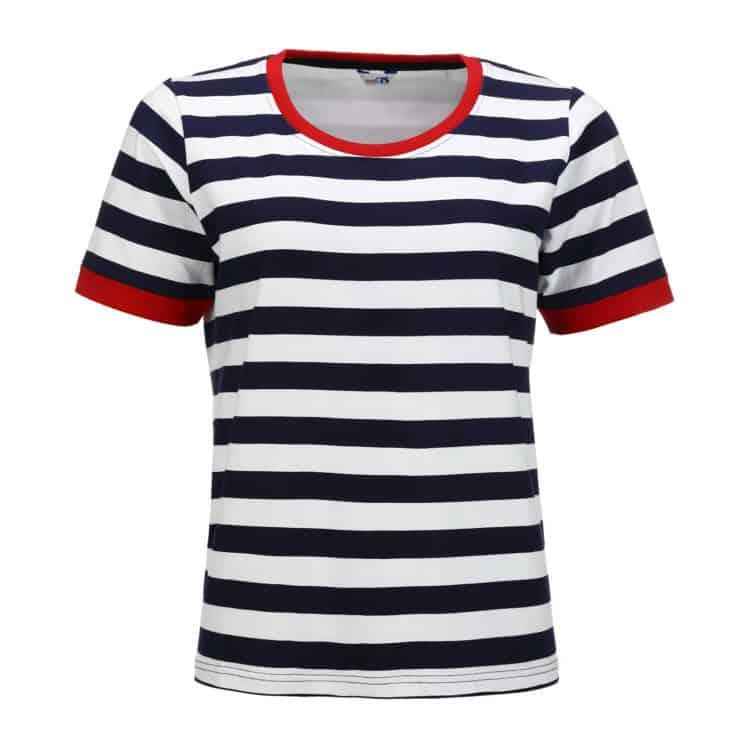 Damen-T-Shirt Blockstreifen von Modas
