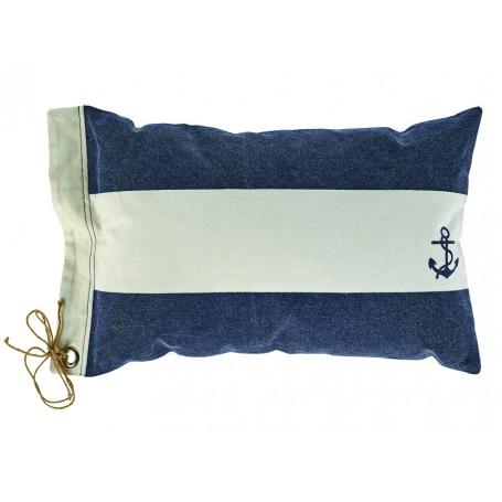 Kissen blau weiß mit Anker und Schleife von Artesania
