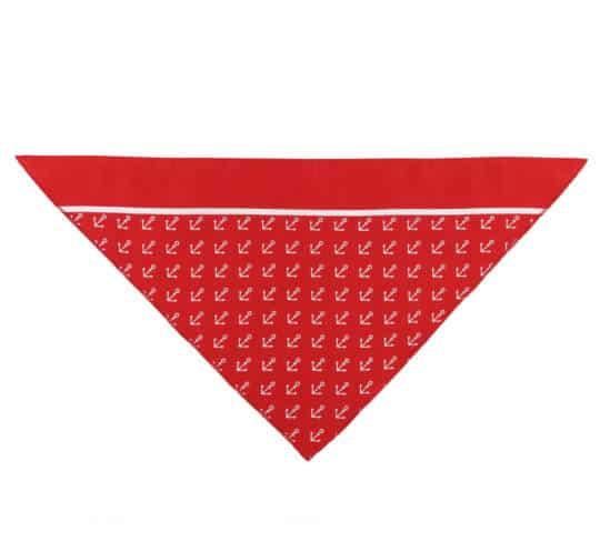 Dreiecktuch Anker rot