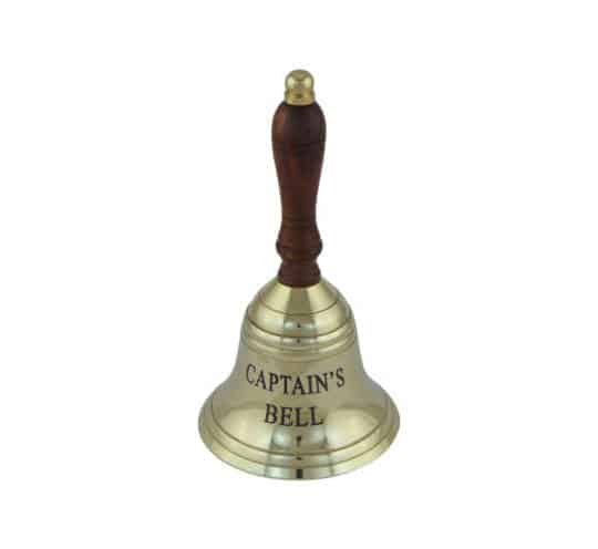 Handglocke Captain's Bell groß Messing Seaclub