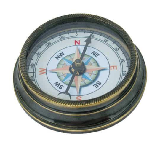 Kompass aus Messing antik von Sea Club