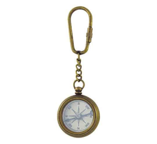Kompass Schlüsselanhänger antik
