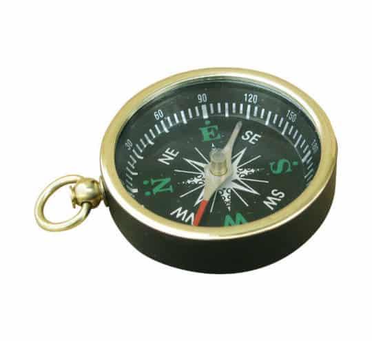 schwarzer Kompass mit Ring von Sea Club