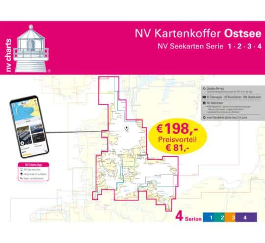 Plano Kartenkoffer Ostsee Serie 1, 2, 3, 4