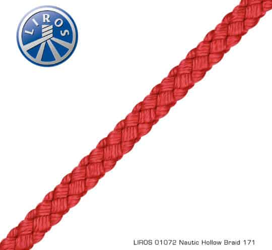 LIROS Leine Nautic Hollow Braid rot