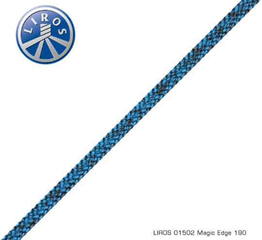 Liros Leine Magic Edge schwarz blau