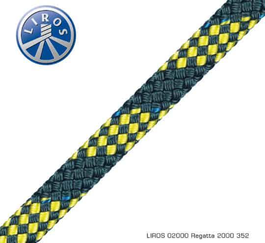 Liros Regatta 2000 Leine in schwarz/gelb