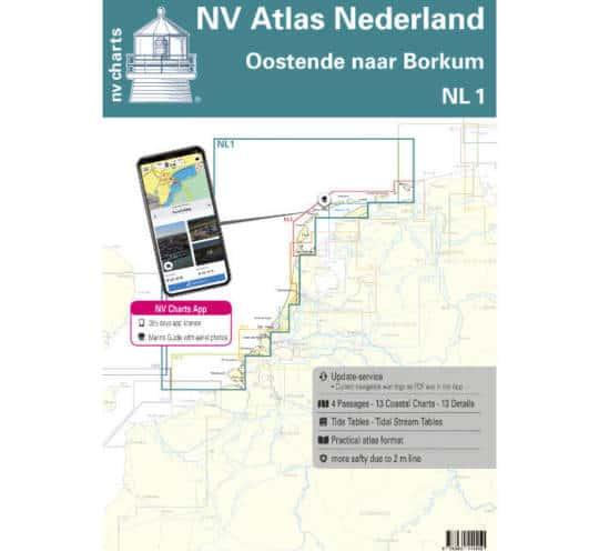 Atlas Nederland NL1 - Borkum naar Oostende