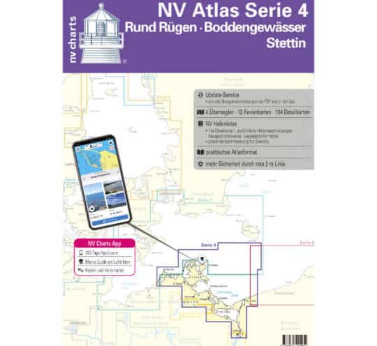 Atlas Serie 4 Rund Rügen - Boddengewässer - Stettin