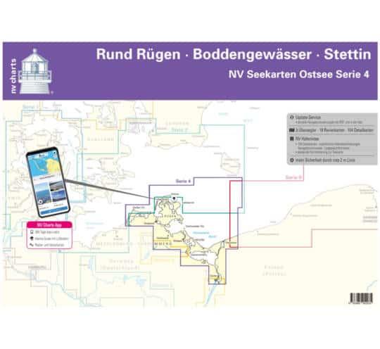 Serie 4 Plano Rund Rügen - Boddengewässer - Stettin